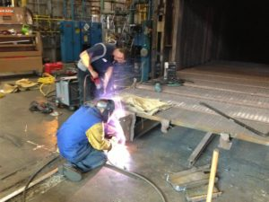 Maintenance service and welding