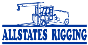Allstates Rigging Logo with Forklift